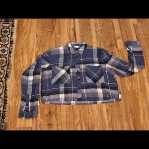 BP crop plaid shirt